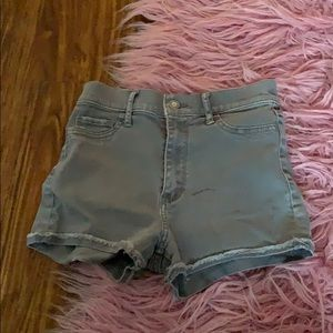 Hollister high waisted grey shorts size 1 /25